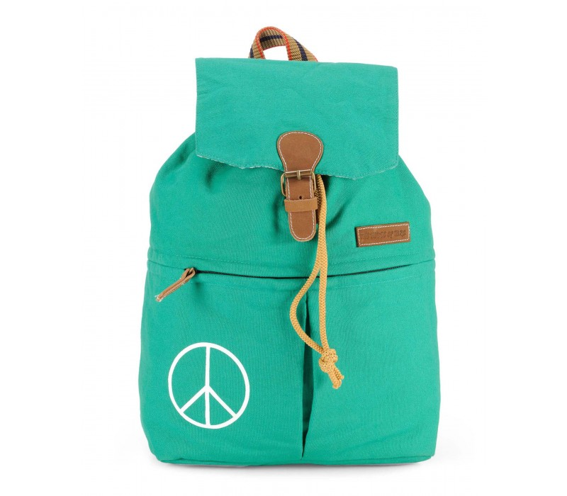 Canvas Backpack (Winter Green).