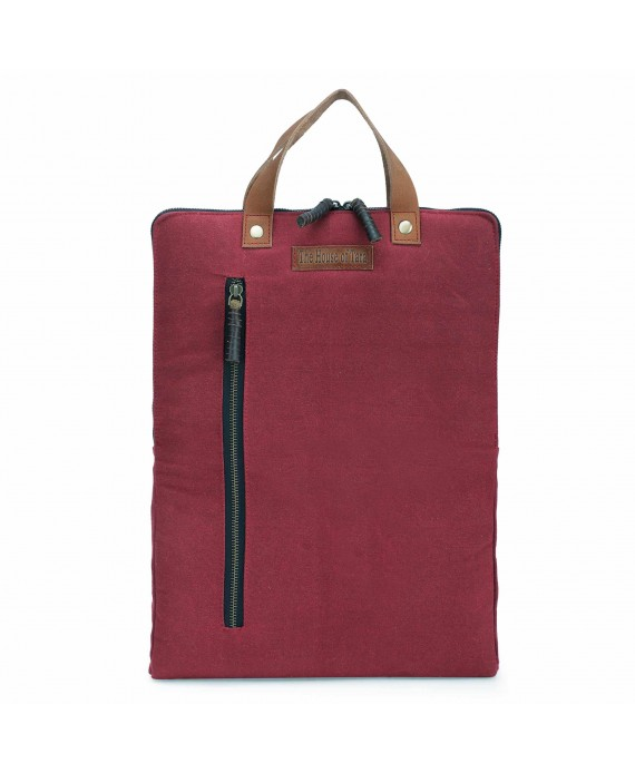 Tibetan Red 3 Ltrs Sturdy Waterproof Canvas Slim Travel Laptop Backpack for Office, College for Men and Women