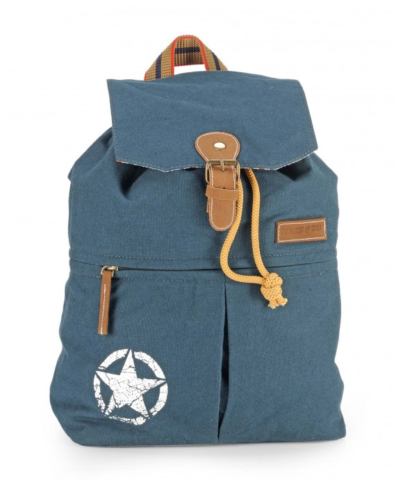 Canvas Backpack (Combat Blue).