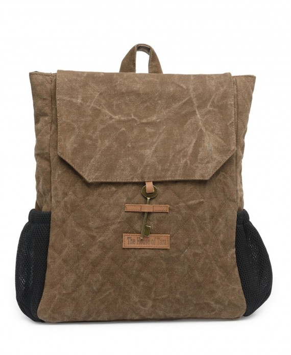 Quilted Canvas Backpack (Acorn Brown) HTBP 180