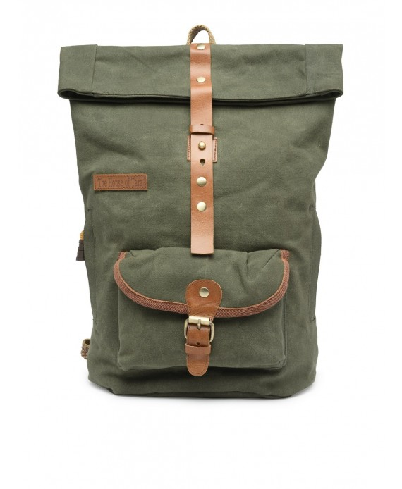 Canvas Day Backpack (Moss Green) HTBP 185