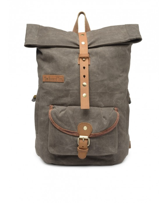 Canvas Day Backpack (Taupe Grey) HTBP 187