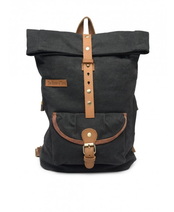 Canvas Day Backpack (Raven Black) HTBP 188