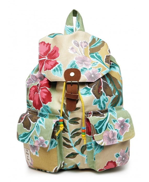 Vibrant Print Cotton Canvas Backpack (HTBP 220)