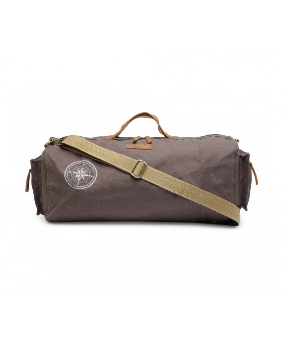 Canvas Duffle/Gym Bag (Taupe Grey) HTD 136