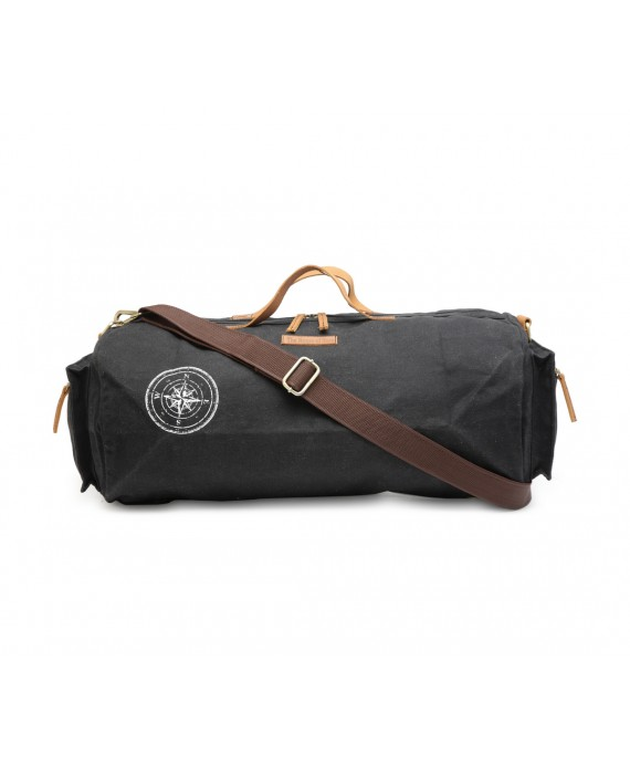 Canvas Duffle/Gym Bag (Raven Black) HTD 137