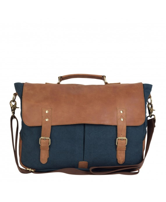 Leather and Canvas Laptop and Office Bag