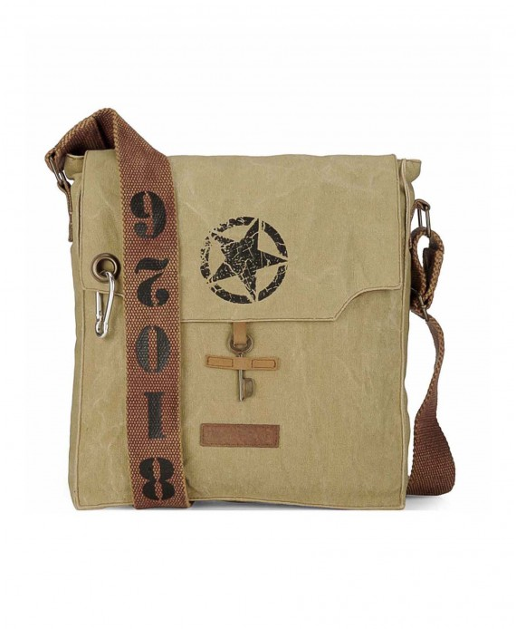 Canvas Messenger Bag (Desert Storm)