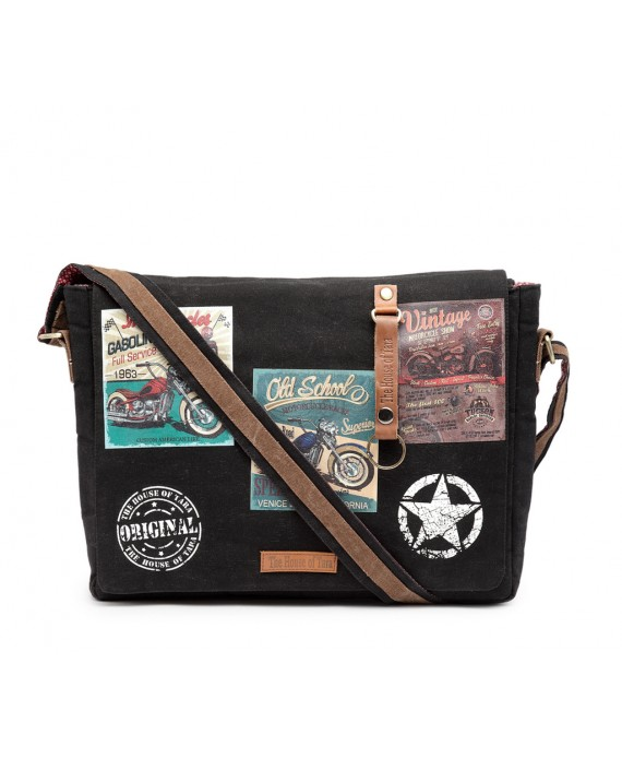 Laptop Messenger Bag (HTMB 091) Raven Black