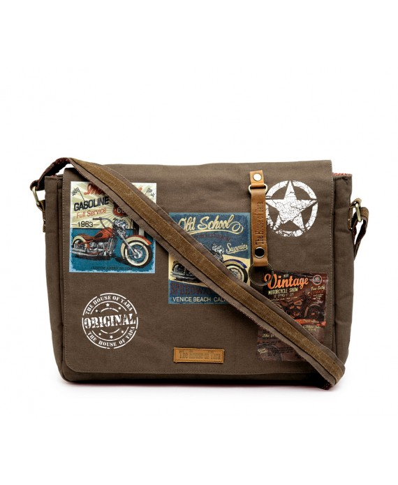 Laptop Messenger Bag (HTMB 092) Taupe Grey