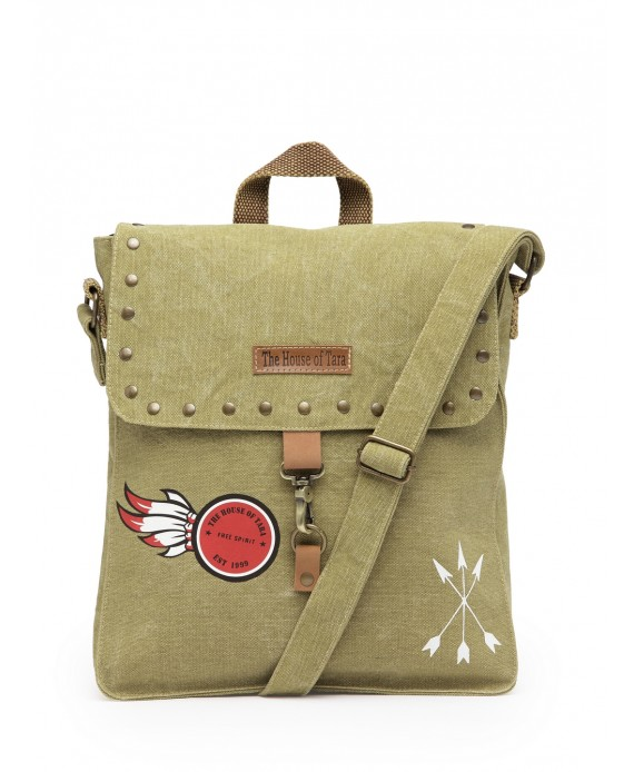 Studded Messenger Bag (Desert Storm)