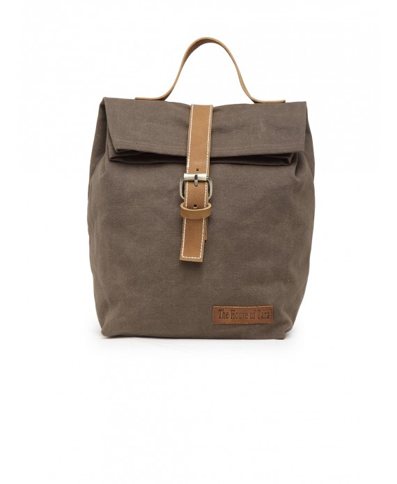 Canvas Lunch Box Bag (Taupe Grey - HTTB 002)