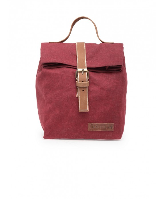 Canvas Lunch Box Bag (Tibetan Red - HTTB 004)