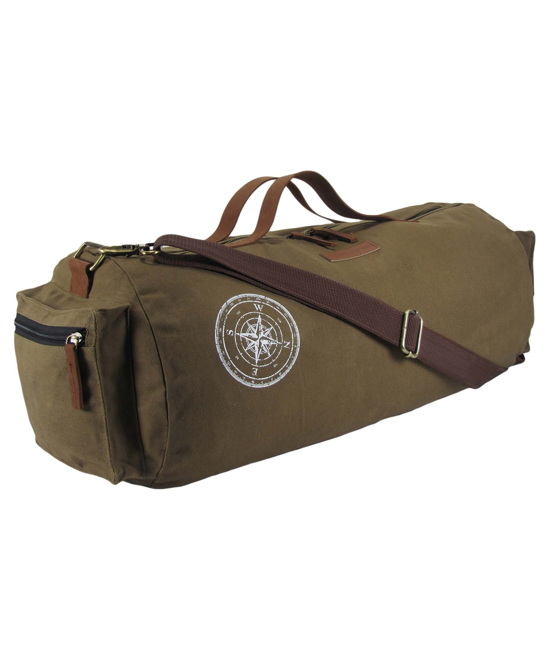 The House Of Tara Waxed Canvas Duffle Gym Bag Travel