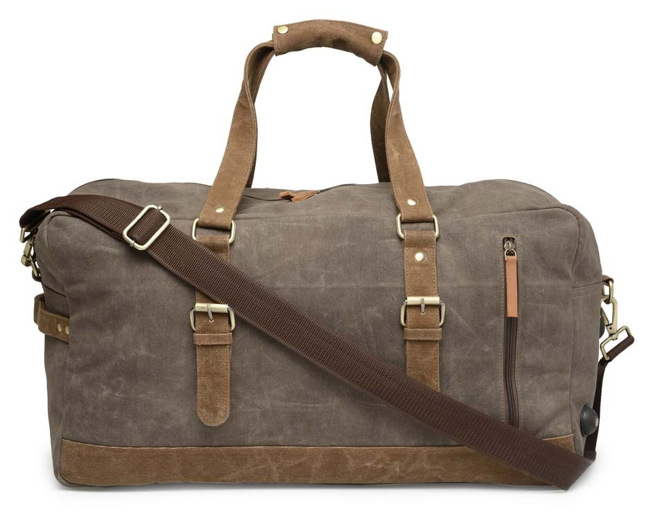 c7ff332ca1bc The House Of Tara Special Canvas Large Duffle (Taupe Grey)