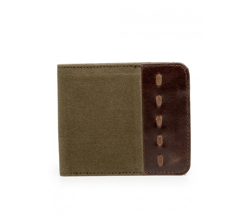 Canvas and Leather Wallet (HTGW 010)