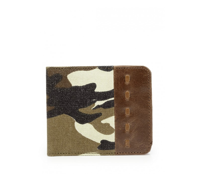 Canvas and Leather Wallet (HTGW 011)
