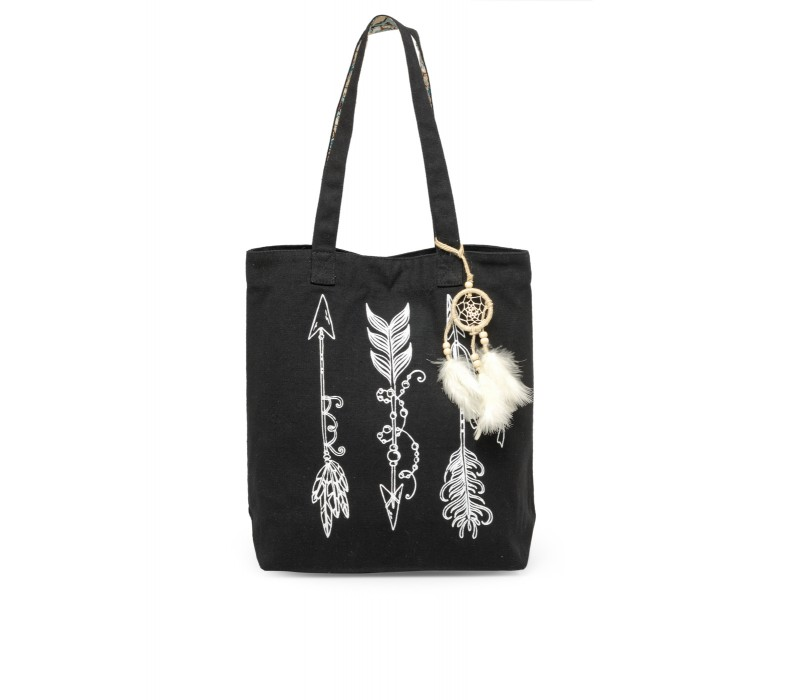 The House Of Tara Canvas Tote HTT 334 (Charcoal Black)
