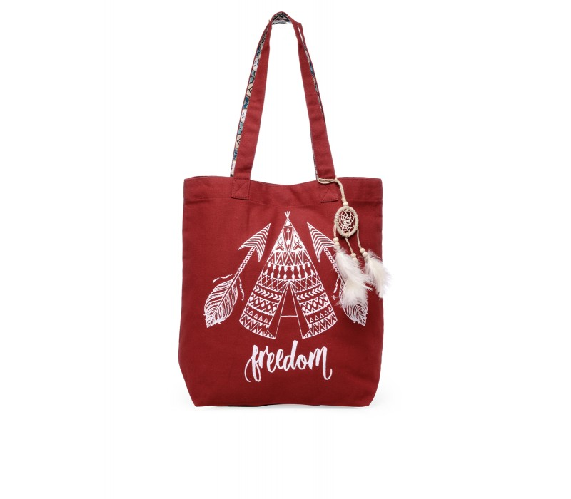 The House Of Tara Canvas Tote HTT 353 (Crimson Red)