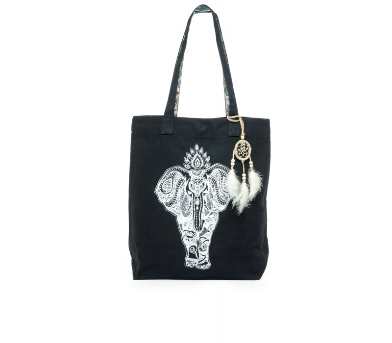 The House Of Tara Canvas Tote HTT 338 (Charcoal Black)