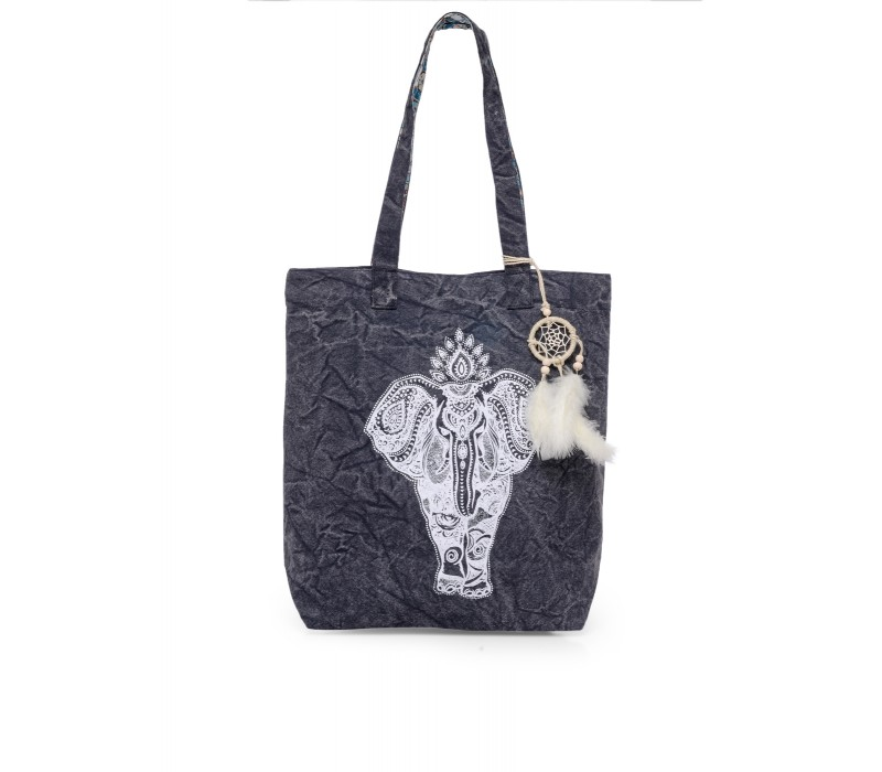 The House Of Tara Canvas Tote HTT 341 (Ash Grey)