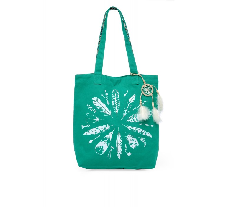 The House Of Tara Canvas Tote HTT 347 (Emrald Green)