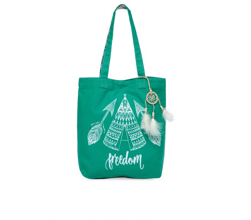The House Of Tara Canvas Tote HTT 349 (Emrald Green)