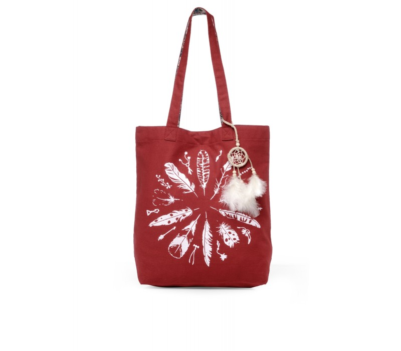 The House Of Tara Canvas Tote HTT 350 (Crimson Red)