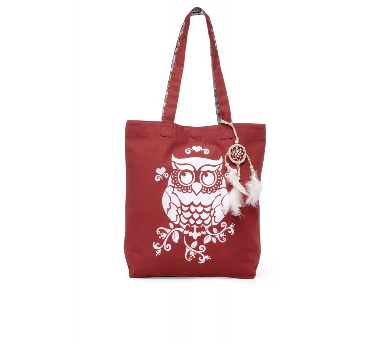 The House Of Tara Canvas Tote HTT 352 (Crimson Red)