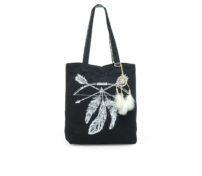 The House Of Tara Canvas Tote HTT 329 (Charcoal Black)
