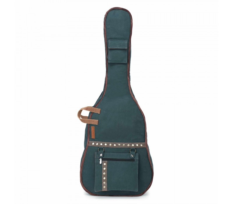 Combat Blue Canvas Fabric Acoustic Guitar Bag Cover for Men and Women (HTGC 013)
