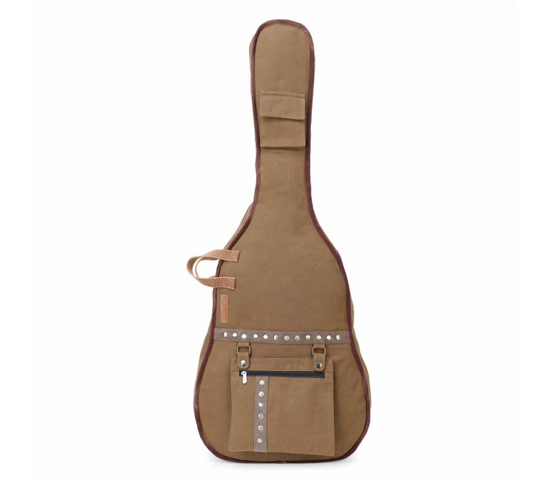 Khaki Canvas Fabric Acoustic Guitar Bag Cover for Men and Women (HTGC 011)