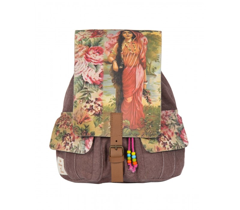 Delicate Floral Print Backpack