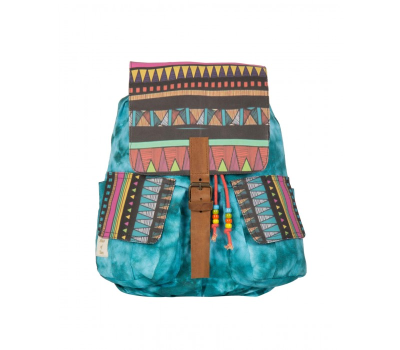 Tie and Dye Aztec Print Backpack