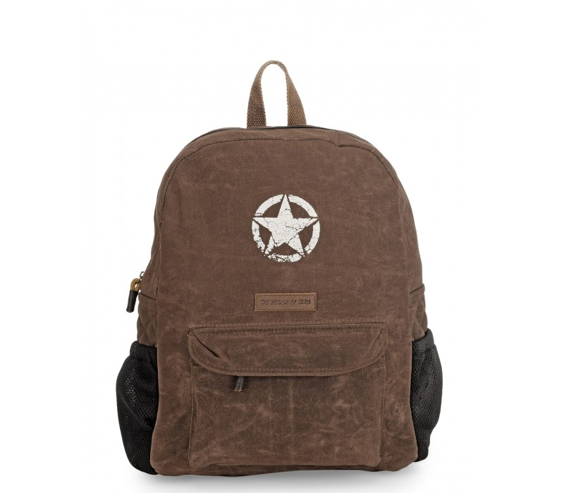 Rugged Unisex Laptop Backpack (Rustic Brown)