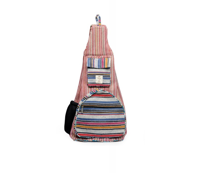 Handloom Fabric Shoulder Bag Backpack HTBP 171