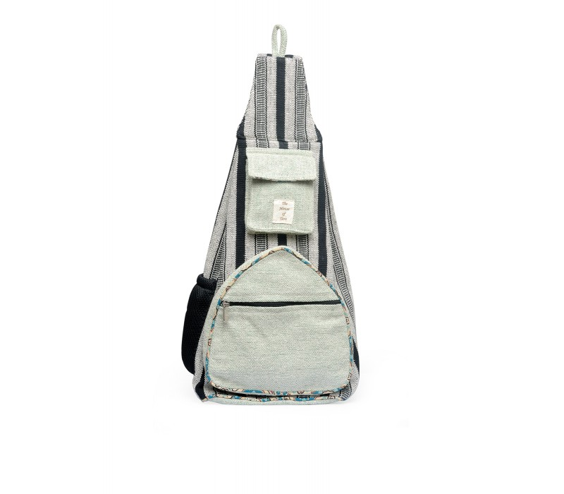 Handloom Fabric Shoulder Bag Backpack HTBP 172