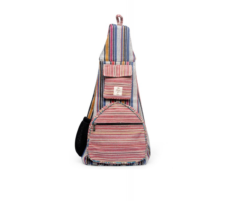 Handloom Fabric Shoulder Bag Backpack HTBP 174