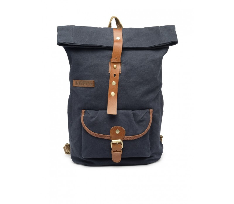 Canvas Day Backpack (Midnight Blue) HTBP 184