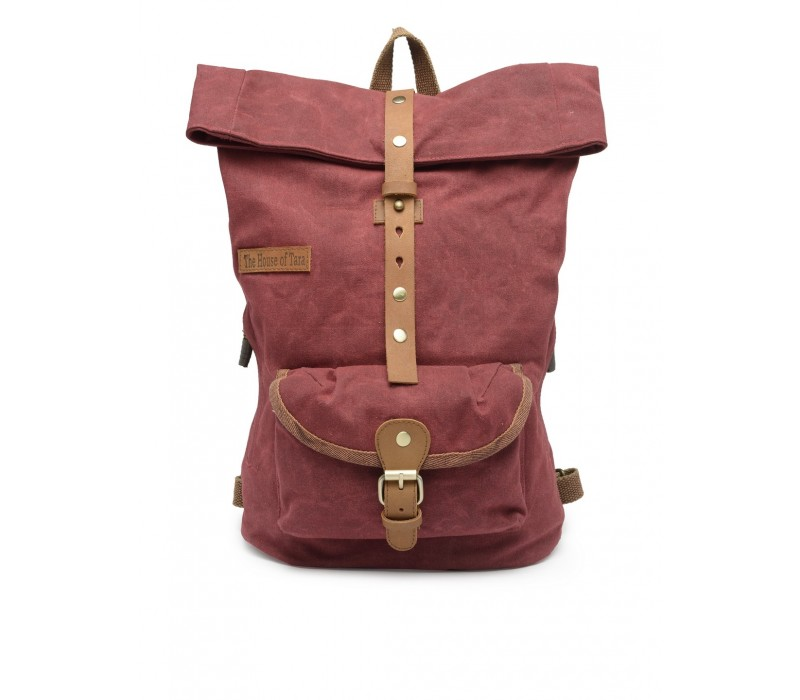 Canvas Day Backpack (Tibetan Red) HTBP 189