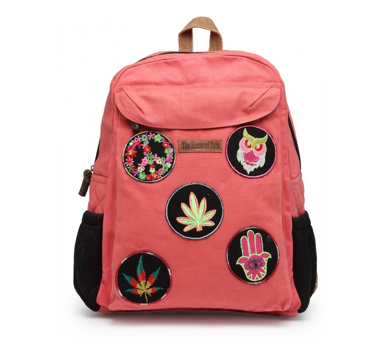 Laptop Backpack (HTBP 199) - Coral Pink