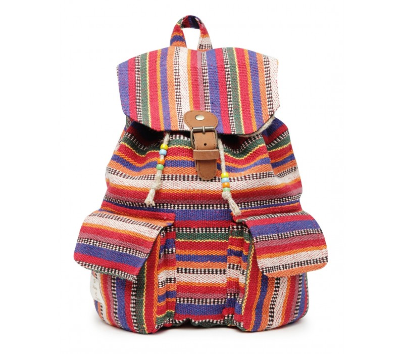 Handloom Fabric Backpack (HTBP 207)