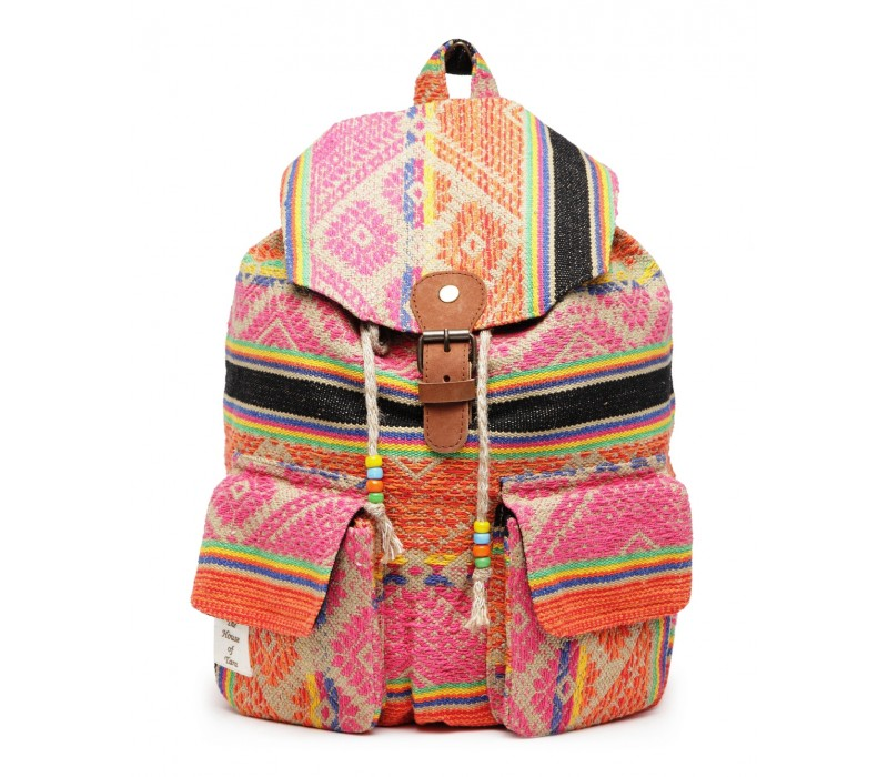 Handloom Fabric Backpack (HTBP 210)