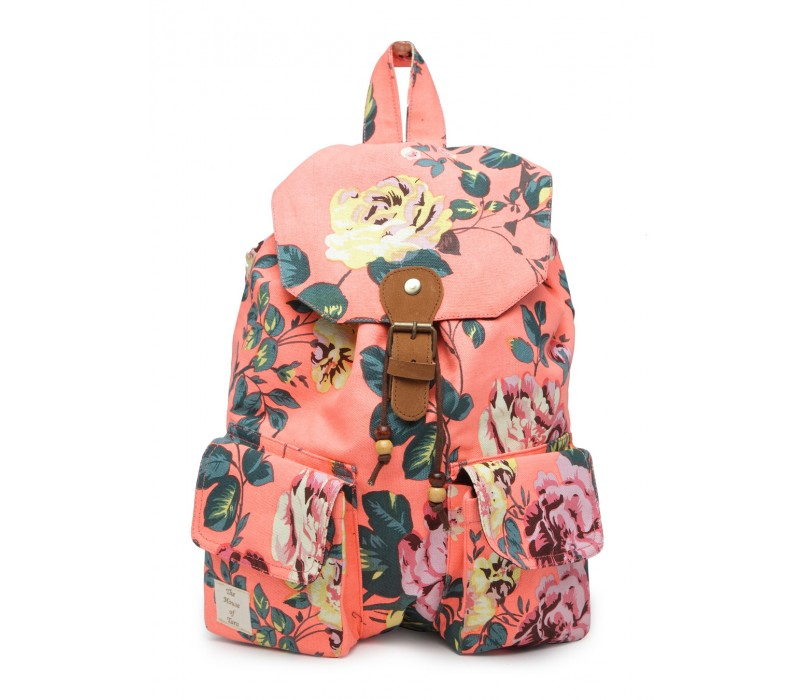 Vibrant Print Cotton Canvas Backpack (HTBP 218)