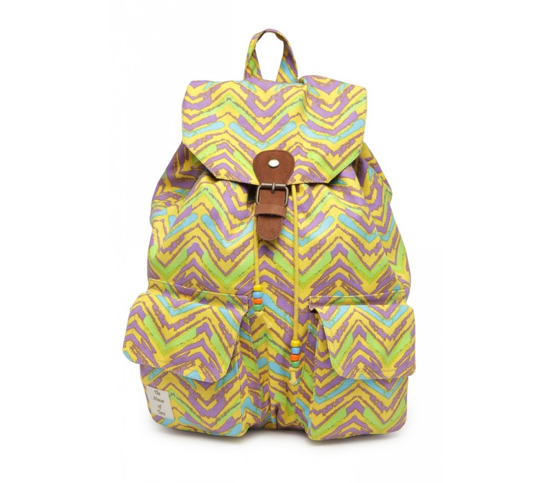 Vibrant Print Cotton Canvas Backpack (HTBP 219)
