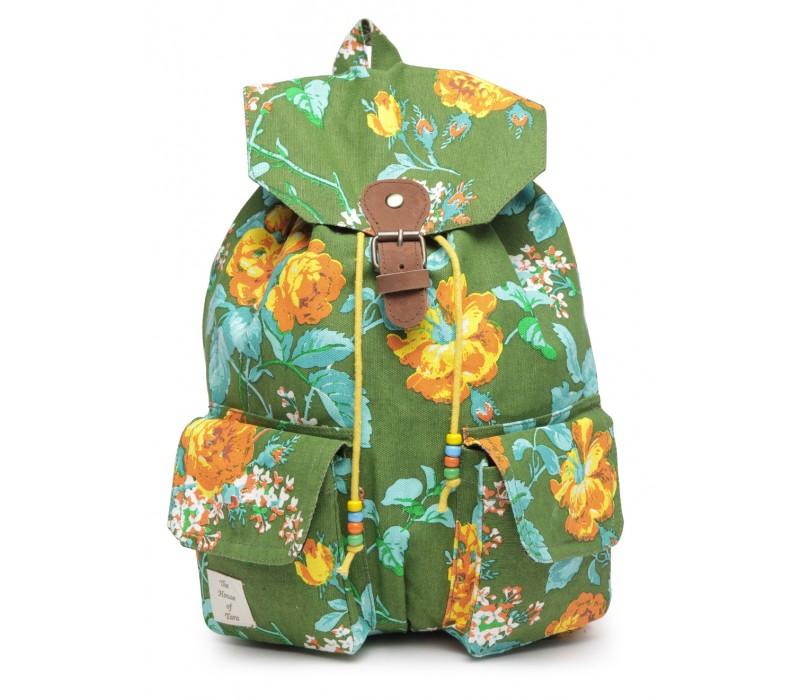 Vibrant Print Cotton Canvas Backpack (HTBP 221)