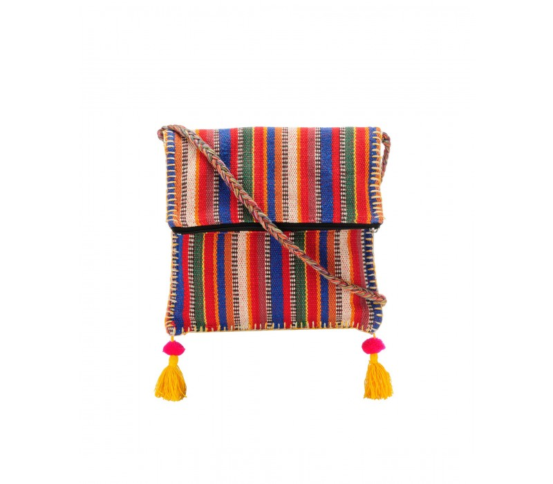 Boho Chick Crossbody Bag in Handloom Fabric HTCB 044