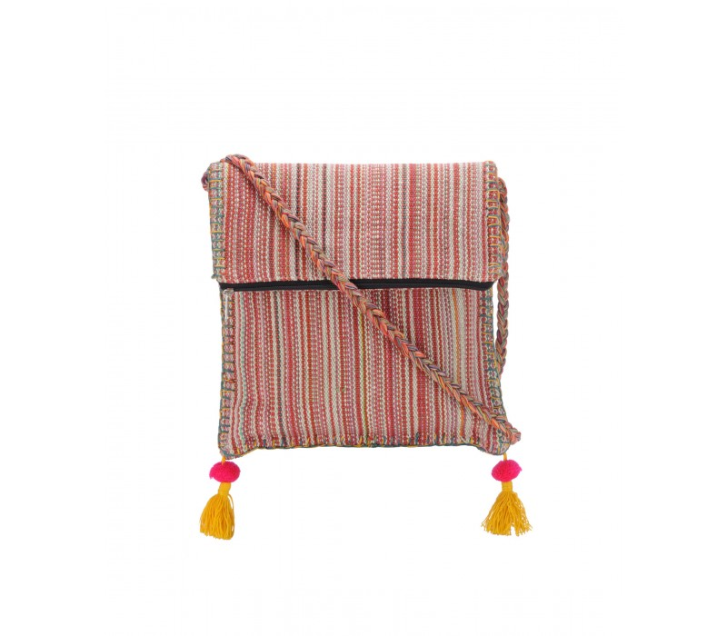 Boho Chick Crossbody Bag in Handloom Fabric