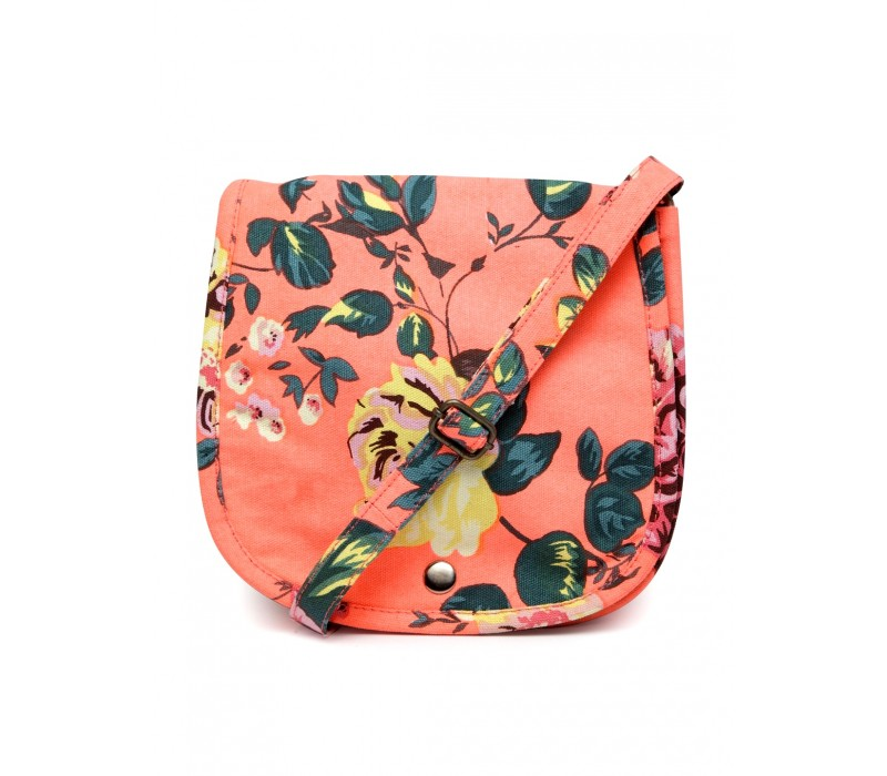 Floral Canvas Cross Body Bag (HTCB 051)