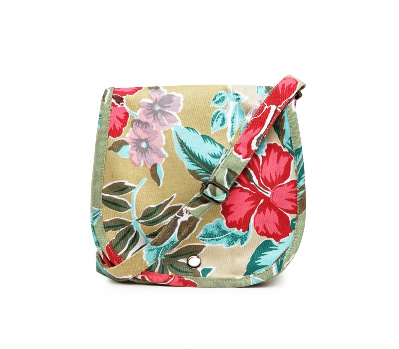 Floral Canvas Cross Body Bag (HTCB 052)